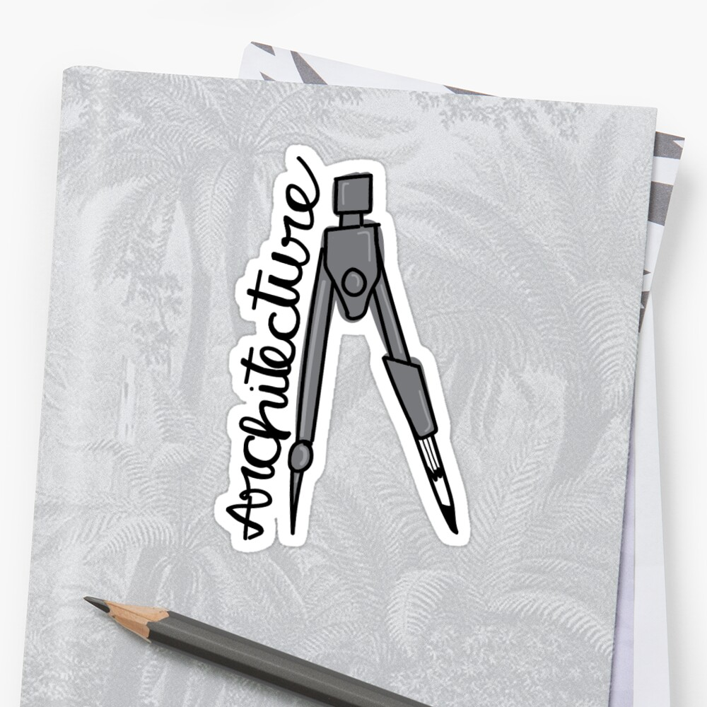 Architecture Compass Sticker