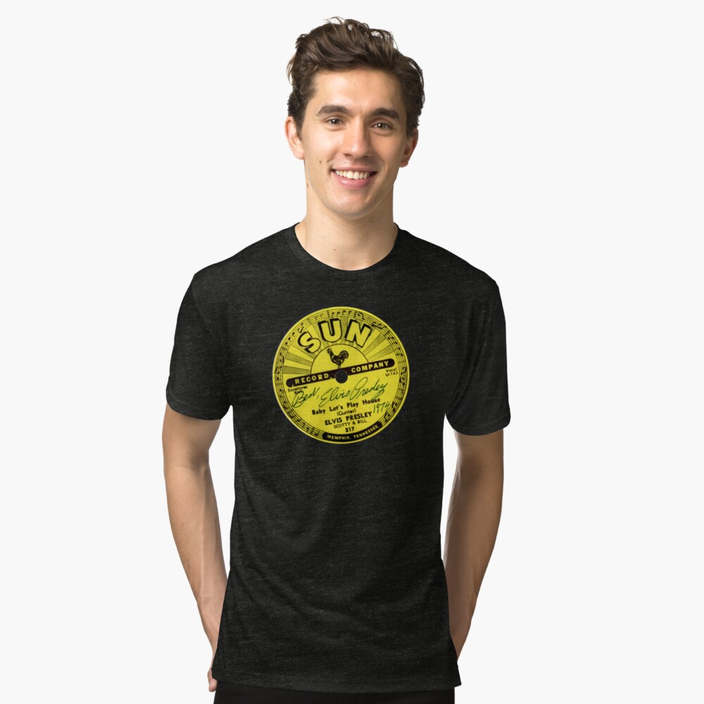 Sun Records Tri-blend T-Shirt Front