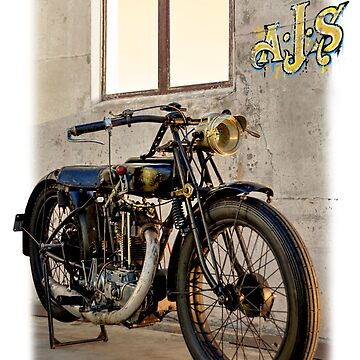 1927 Vintage A-J-S Motorcycle  by MartinLome