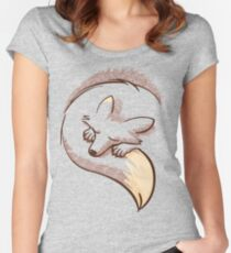 The fox is sleeping Women's Fitted Scoop T-Shirt