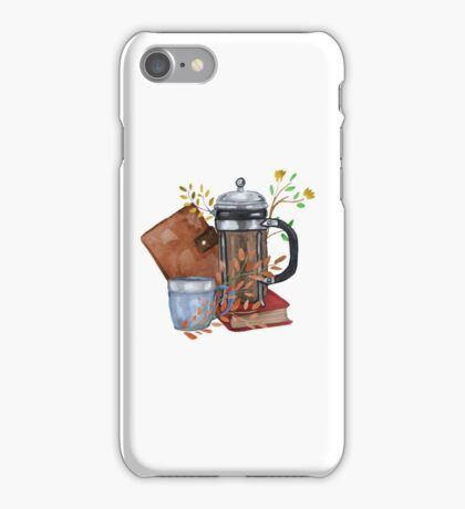 Coffee and Flowers iPhone Case/Skin