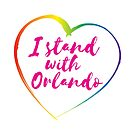 I Stand With Orlando - Rainbow by Kirsten Chambers