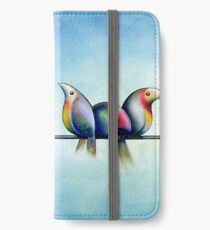 Finches On Parade - Excerpt One iPhone Wallet/Case/Skin