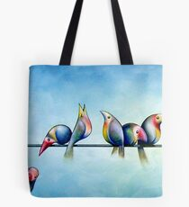Finches On Parade - Excerpt One Tote Bag