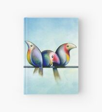 Finches On Parade - Excerpt One Hardcover Journal