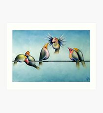 Finches On Parade - Excerpt Two Art Print