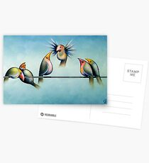 Finches On Parade - Excerpt Two Postcards