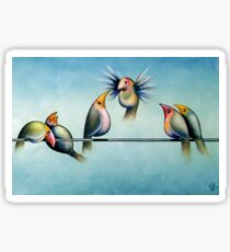 Finches On Parade - Excerpt Two Sticker