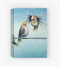 Finches On Parade - Excerpt Two Spiral Notebook