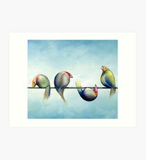 Finches On Parade - Excerpt Three Art Print