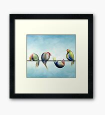 Finches On Parade - Excerpt Three Framed Print
