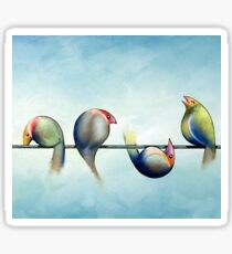 Finches On Parade - Excerpt Three Sticker