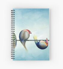Finches On Parade - Excerpt Three Spiral Notebook