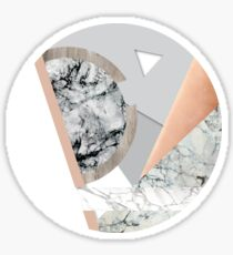 Collage I ( marble and copper ) Sticker