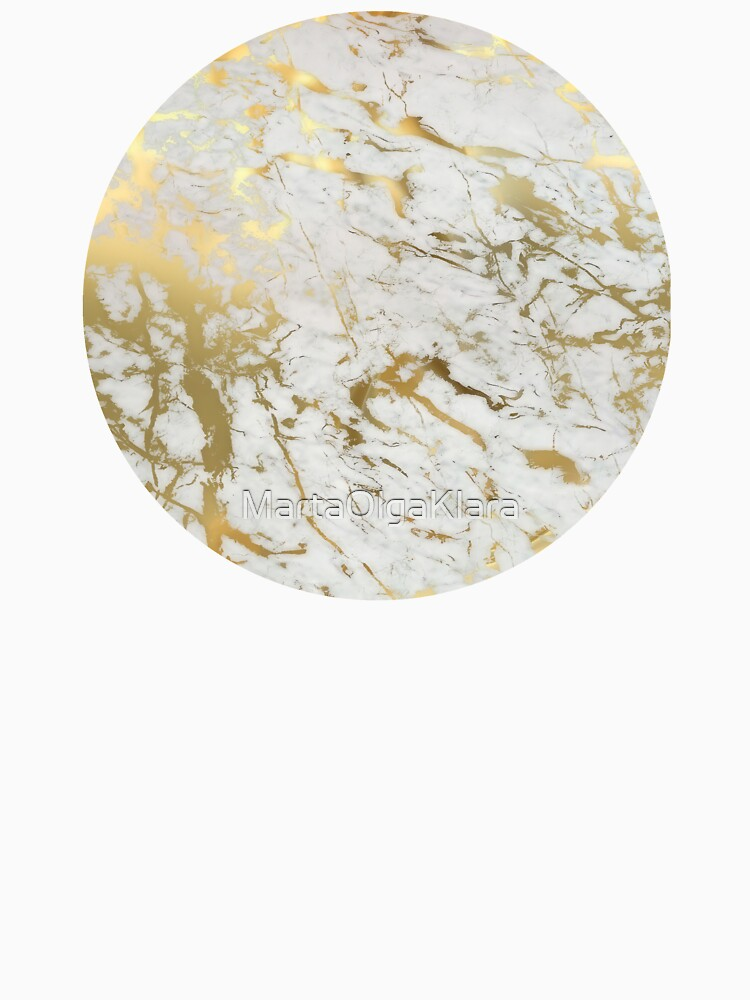 Gold marble on white (original height quality print) by MartaOlgaKlara