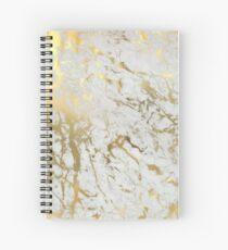 Cuaderno de espiral Mármol dorado sobre blanco (impresión de calidad de altura original)