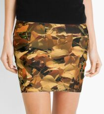 Ginkgo Biloba Leaves in Autumn Mini Skirt
