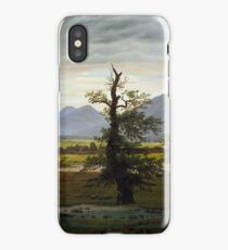 Solitary Tree Painting Painted originally by Caspar David Friedrich iPhone Case/Skin