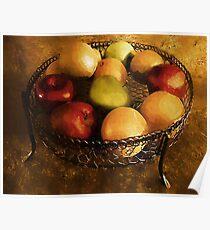 Fresh Fruit Fresco Poster
