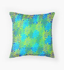 Psychedelic foliage Throw Pillow