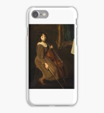 A Young Violoncellist Painting Painted originally by Lilla Cabot Perry,  iPhone Case/Skin