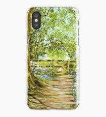 Bluebell Path iPhone Case/Skin