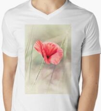 Wild Poppy  Men's V-Neck T-Shirt