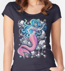 Pink Tailfin Mermaid Women's Fitted Scoop T-Shirt