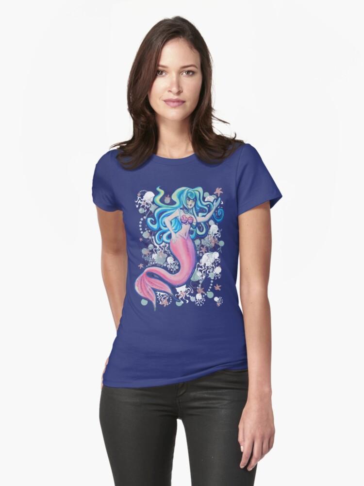 Pink Tailfin Mermaid by SaradaBoru