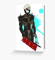 Metal Gear Rising Raiden Greeting Card