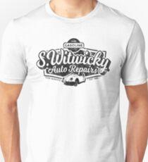 Camiseta unisex Witwicky's Auto Garage (diseño negro)