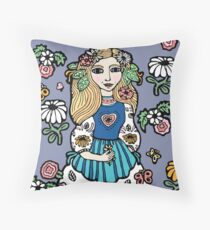 Folksy Throw Pillow