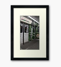 trip on the subway train in St. Petersburg Framed Print