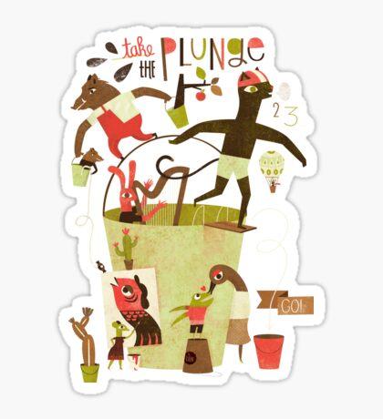 Take the plunge! Sticker