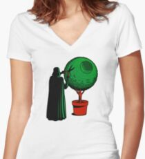 LORD VADER GARDENER Women's Fitted V-Neck T-Shirt