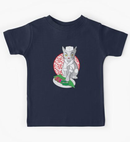 No-one but me makes the sushi (Japanese cat chef) Kids Clothes