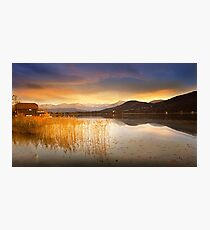 Scirocco clouds over Wörthersee Photographic Print