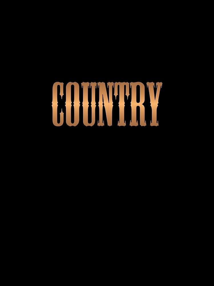Country-Musik Kupfer von Dardman