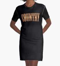 Country-Musik Kupfer T-Shirt Kleid