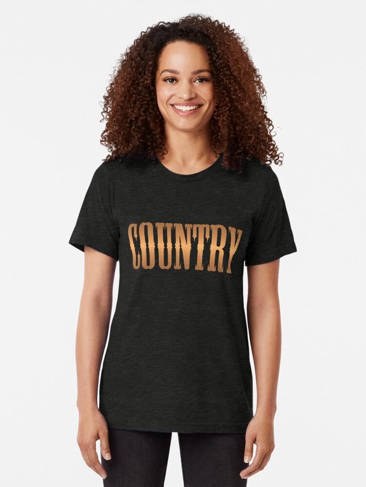 Alternative Ansicht von Country-Musik Kupfer Vintage T-Shirt