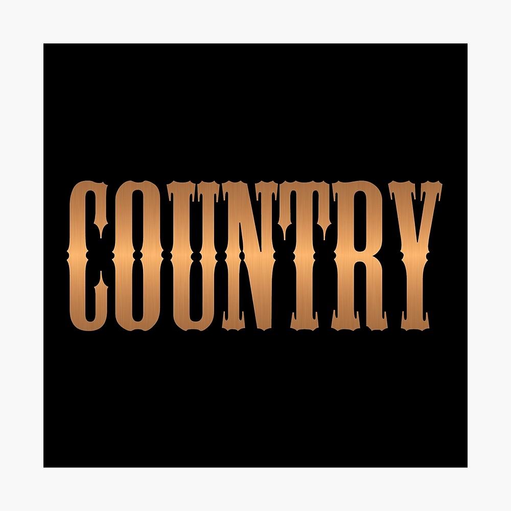 Country-Musik Kupfer Fotodruck