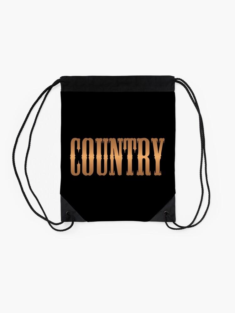 Alternative Ansicht von Country-Musik Kupfer Turnbeutel