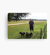 Jimmy and 'The Pack' Canvas Print