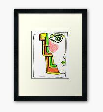 Demi-Face Green Framed Print