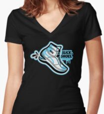 Slick Shoes Women's Fitted V-Neck T-Shirt