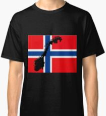 Norway Flag with Norwegian Map Classic T-Shirt