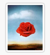 The Meditative Rose by Salvador Dali Sticker