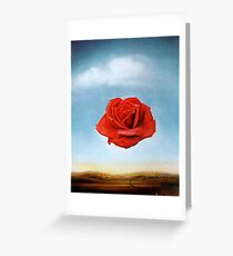 The Meditative Rose by Salvador Dali Greeting Card