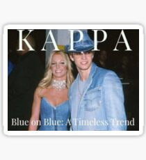 blue on blue kkg Sticker