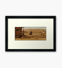 The Darjeeling Limited Thats our train Framed Print